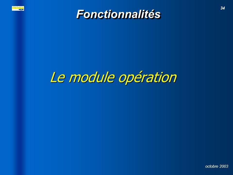 33 octobre 2003 Le suivi des maquettes financières : mesure, axe, programme