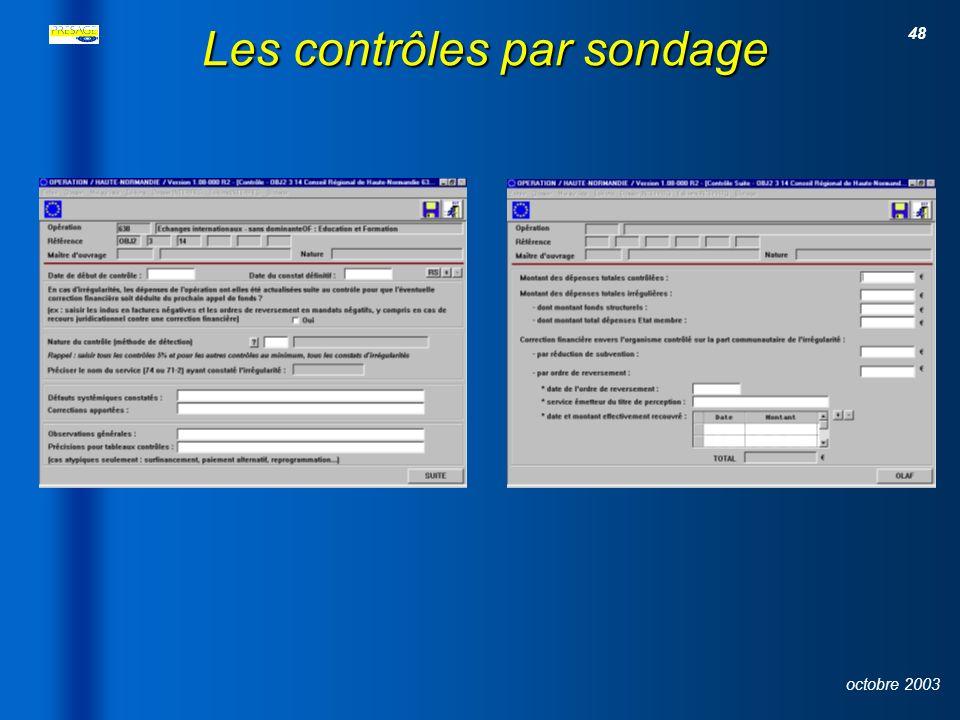 47 octobre 2003 Le contrôle du service fait