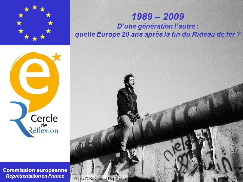 Commission européenne Représentation en France 1989 – 2009 Dune génération lautre : quelle Europe 20 ans après la fin du Rideau de fer ? Photo © Raymo