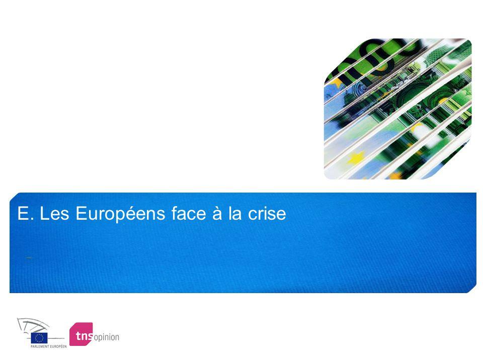 E. Les Européens face à la crise