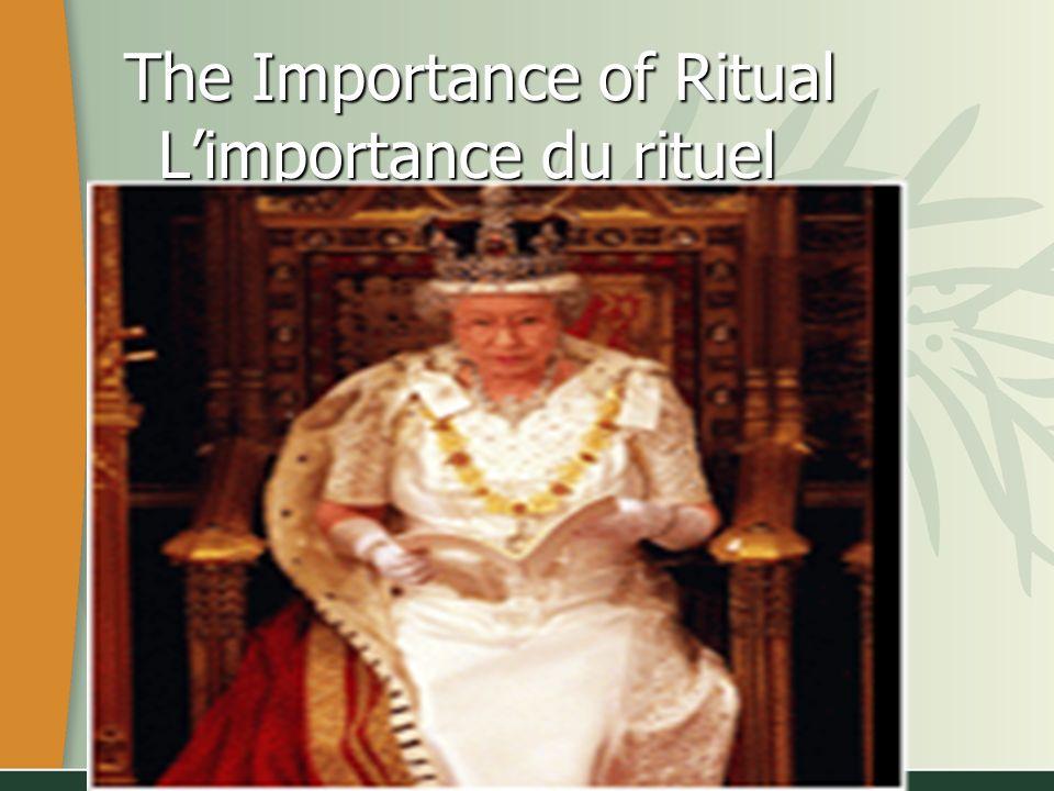 The Importance of Ritual Limportance du rituel The Importance of Ritual Limportance du rituel