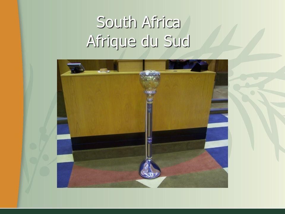 South Africa Afrique du Sud South Africa Afrique du Sud