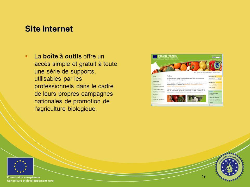 19 Site Internet La boîte à outils offre un accès simple et gratuit à toute une série de supports, utilisables par les professionnels dans le cadre de