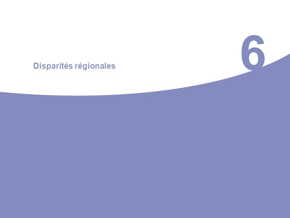 6 Disparités régionales