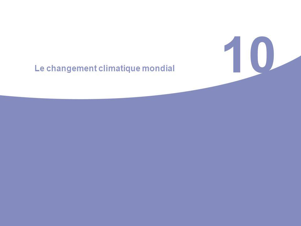 10 Le changement climatique mondial
