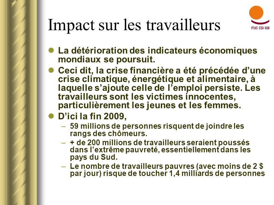 En Afrique … Au début de la crise financière, lAfrique était moins touchée.