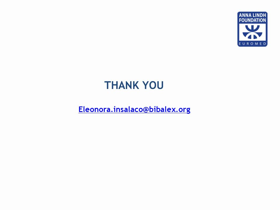 THANK YOU Eleonora.insalaco@bibalex.org