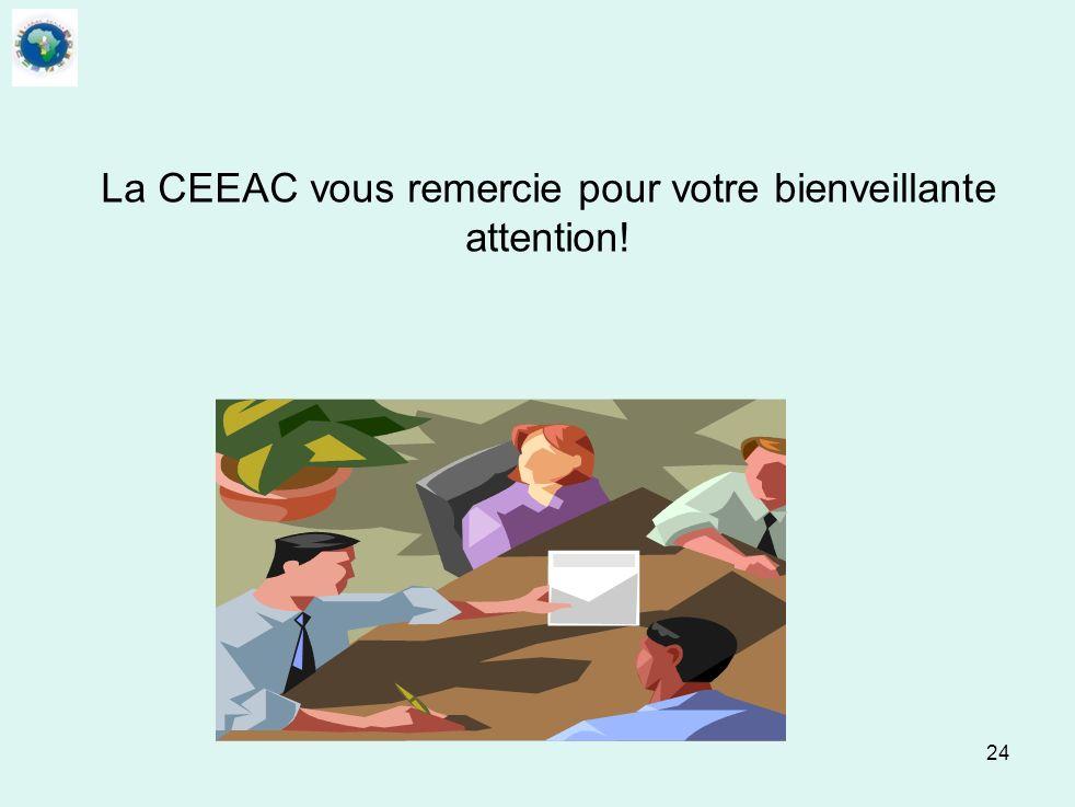 24 La CEEAC vous remercie pour votre bienveillante attention!