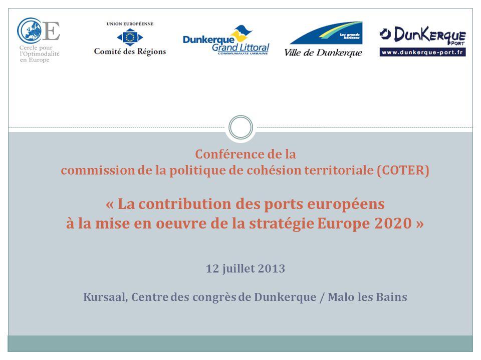 2 SESSION 2 « Les Ports européens, acteurs du développement durable » Philippe MANGEARD Président du Cercle pour lOptimodalité® en Europe 12 juillet2013
