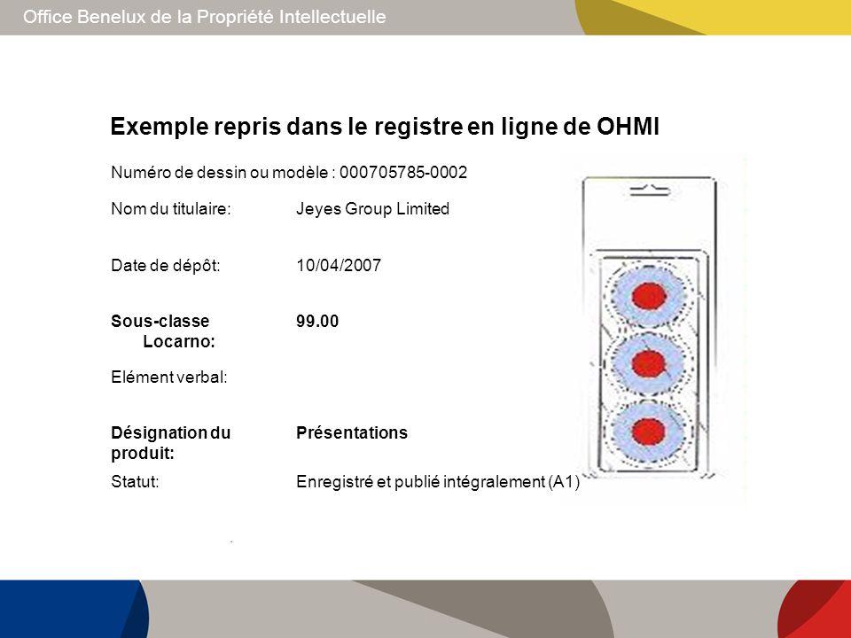 Office Benelux de la Propriété Intellectuelle Exemple repris dans le registre en ligne de OHMI Nom du titulaire:Jeyes Group Limited Date de dépôt:10/0