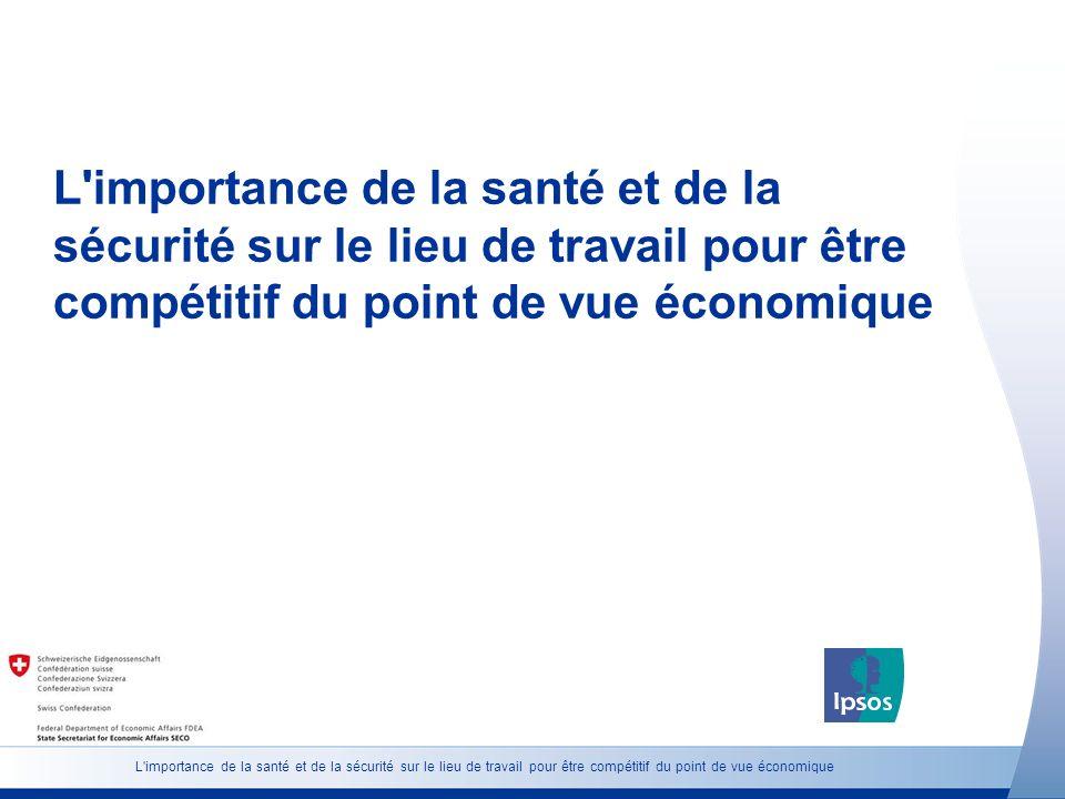 L importance de la santé et de la sécurité sur le lieu de travail pour être compétitif du point de vue économique