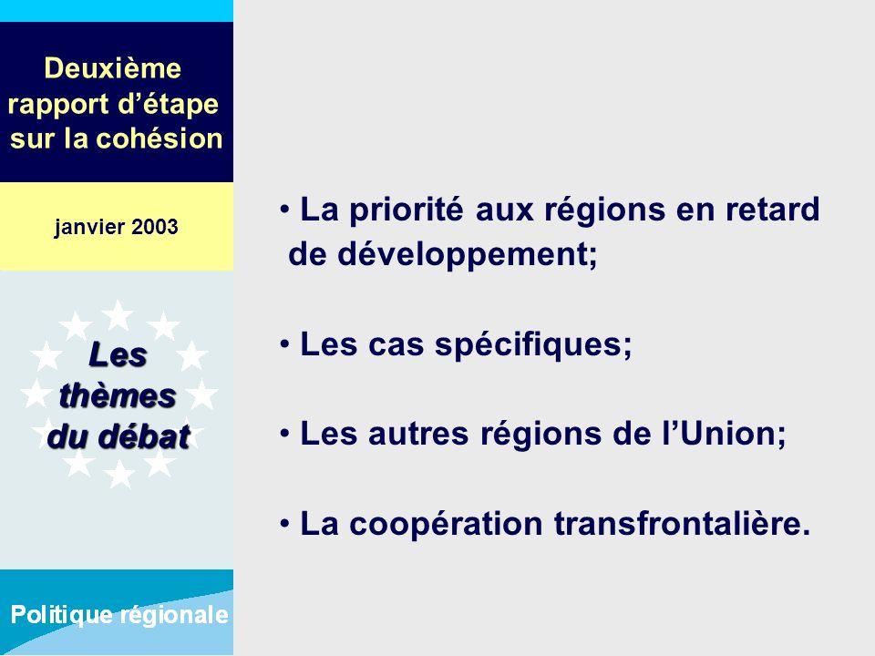 Deuxième rapport détape sur la cohésion La priorité aux régions en retard de développement; Les cas spécifiques; Les autres régions de lUnion; La coop