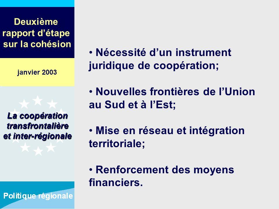 Deuxième rapport détape sur la cohésion Nécessité dun instrument juridique de coopération; Nouvelles frontières de lUnion au Sud et à lEst; Mise en ré