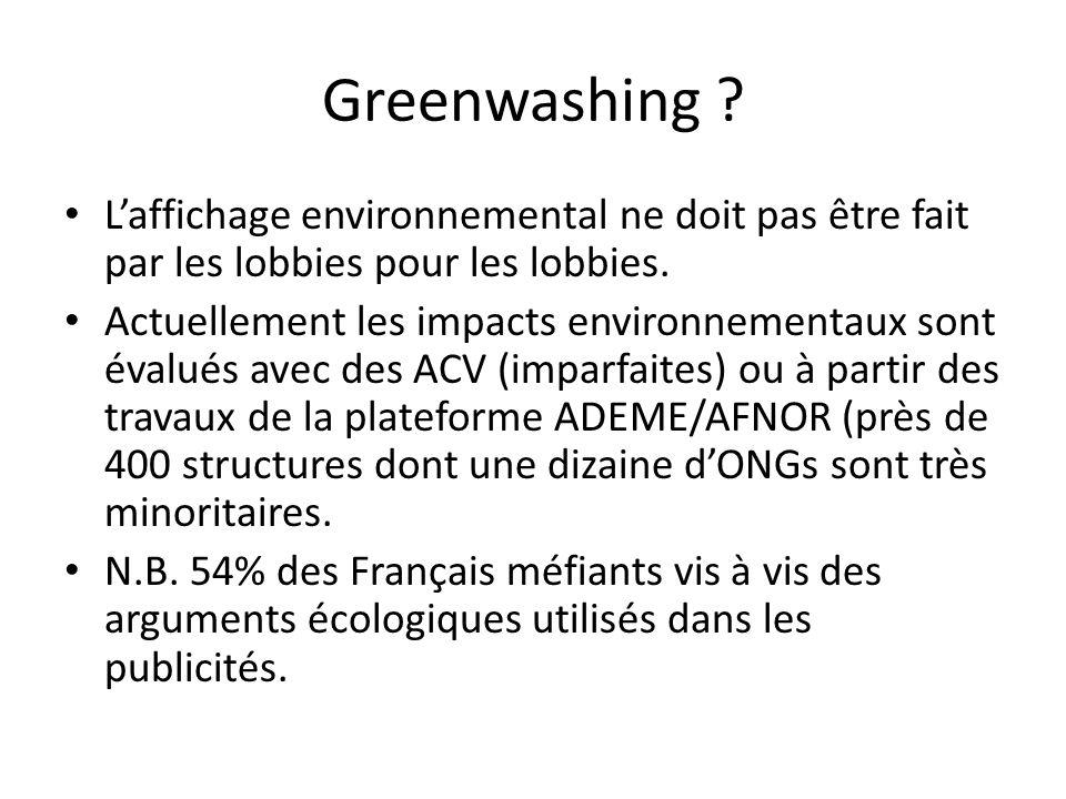Greenwashing . Laffichage environnemental ne doit pas être fait par les lobbies pour les lobbies.