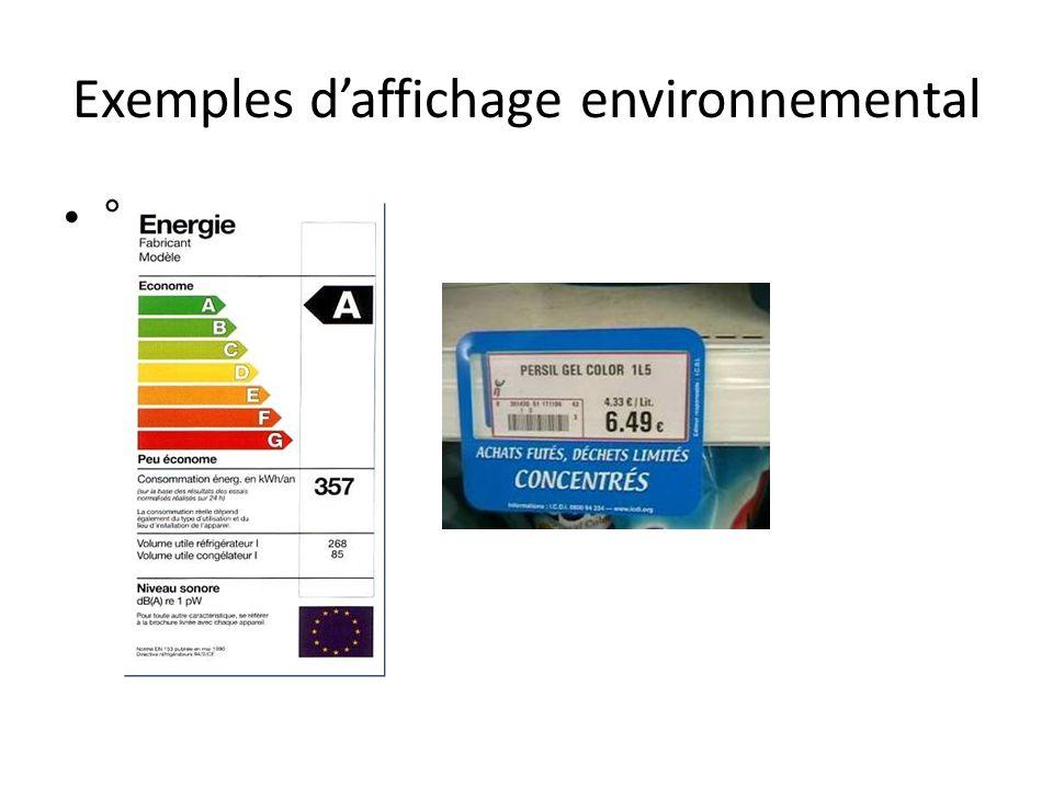 Exemples daffichage environnemental °