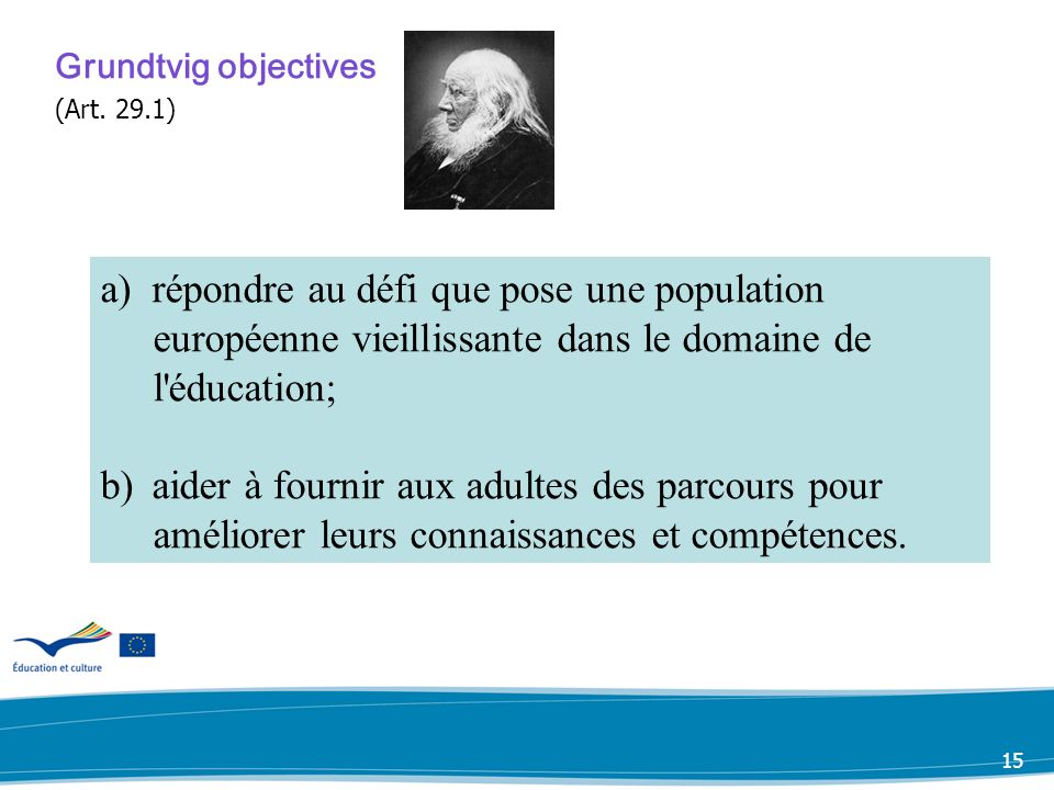 15 Grundtvig objectives (Art.