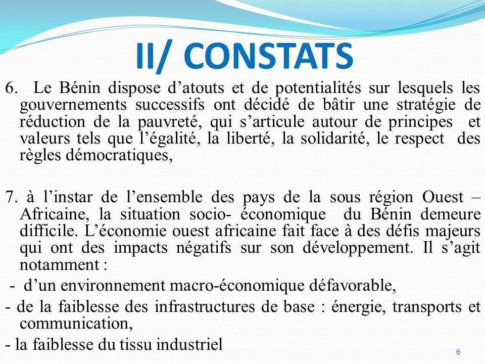 II/ CONSTATS 6.