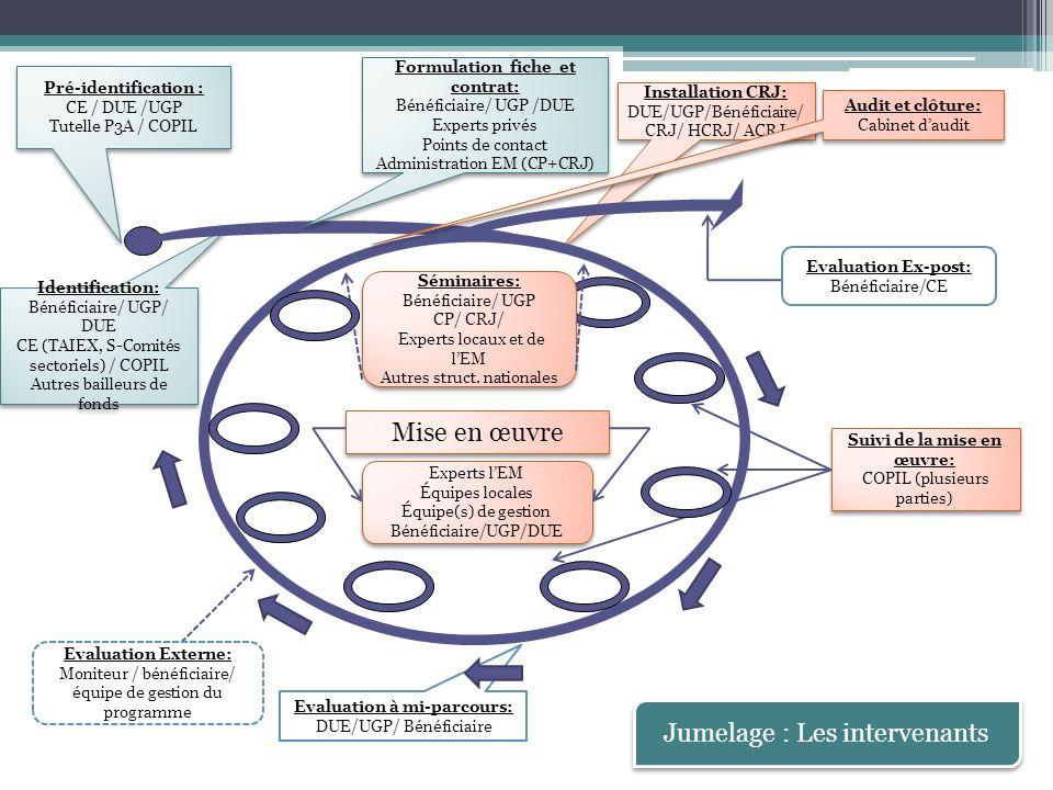 P3A en Tunisie : Bilan chiffré 2 DP: 2010 et 2011 100% du budget opérationnel programmé (26.6 M) Jumelage: 23 M 20 jumelages: 18 traditionnels et 2 légers (87% du budget) 1 en cours, 6 phase contrat, 7 phase attribution, 5 lancés, 1 phase formulation, 2 infructueux P3A II