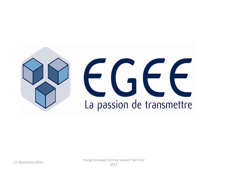 17 Novembre 2011 Young European Entrepreneurs Seminar 2011