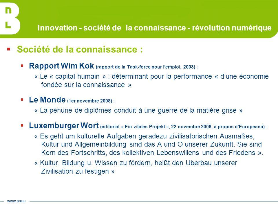 www.bnl.lu Mission patrimoniale Luxemburgensia online : 2 e étape - OCR + accès structurés