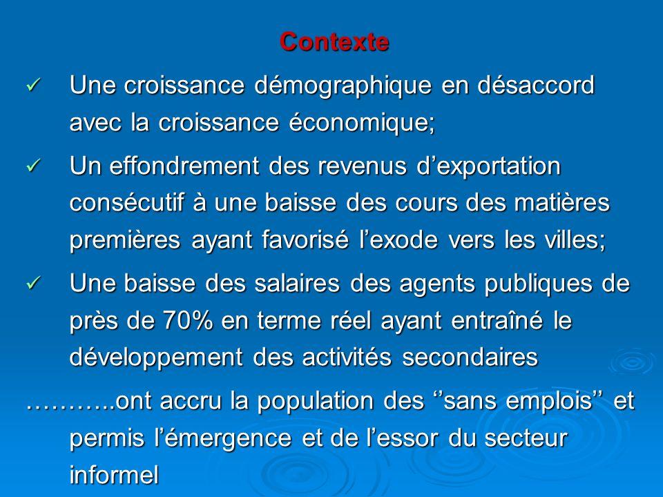 Contexte Une croissance démographique en désaccord avec la croissance économique; Une croissance démographique en désaccord avec la croissance économi
