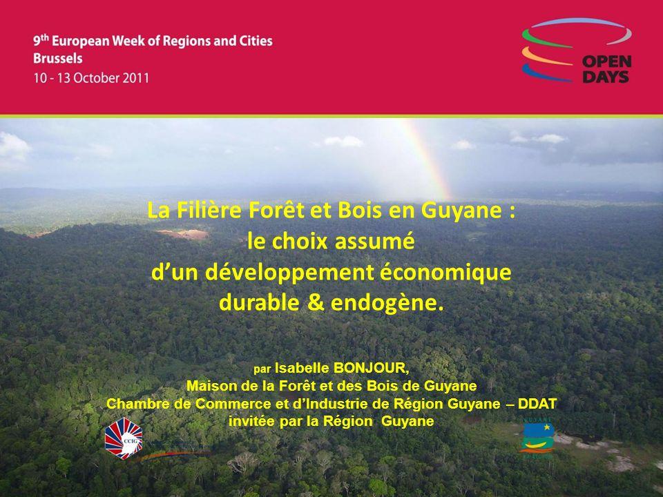 La Filière Forêt et Bois en Guyane : le choix assumé dun développement économique durable & endogène.