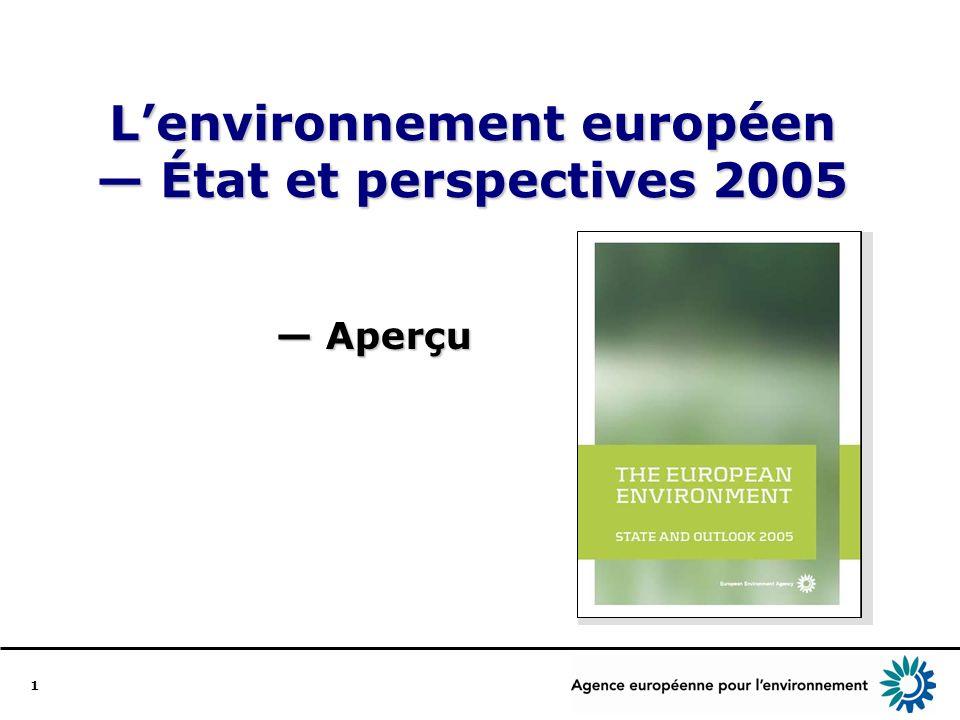 1 Lenvironnement européen État et perspectives 2005 Aperçu Aperçu