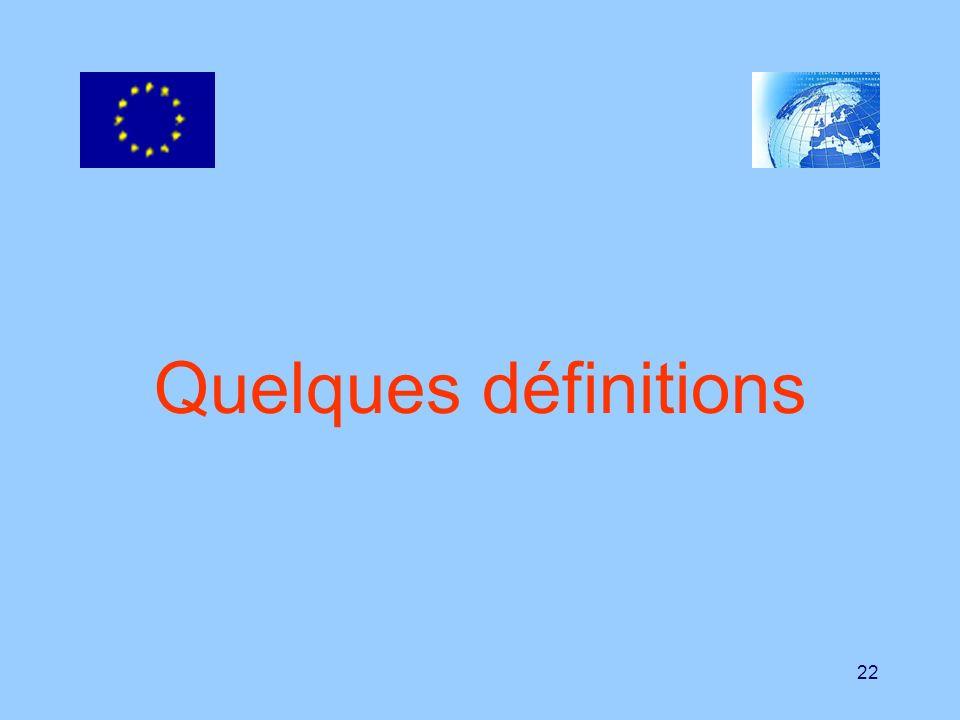 22 Quelques définitions