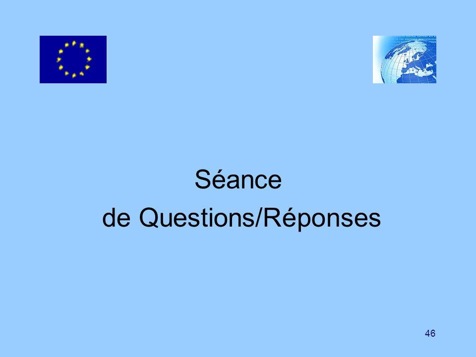 46 Séance de Questions/Réponses