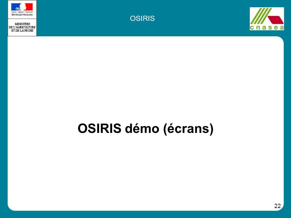 22 OSIRIS démo (écrans) OSIRIS
