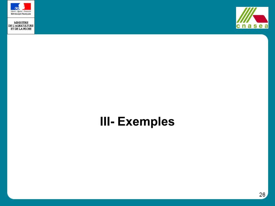 26 III- Exemples