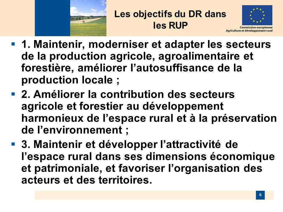 6 Les objectifs du DR dans les RUP 1.