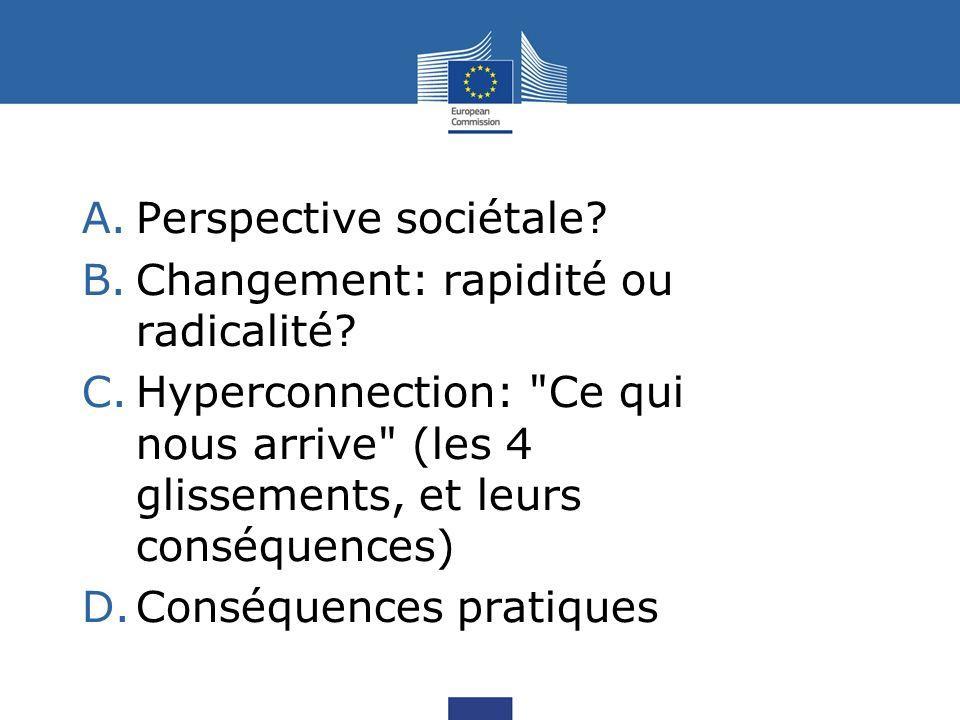 A.Perspective sociétale. B.Changement: rapidité ou radicalité.
