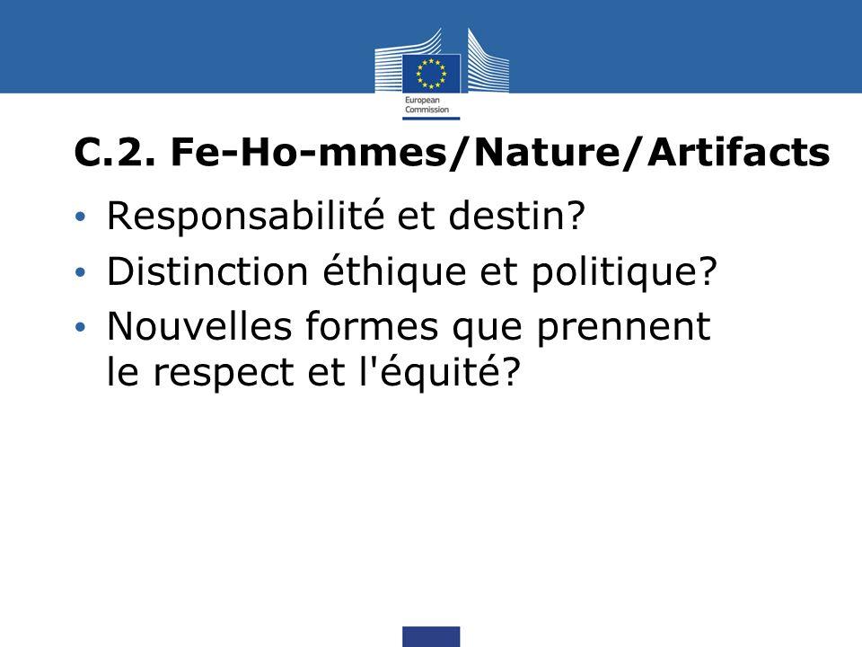 C.2. Fe-Ho-mmes/Nature/Artifacts Responsabilité et destin.