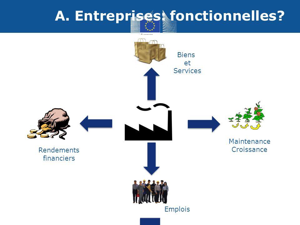 A. Entreprises: fonctionnelles.