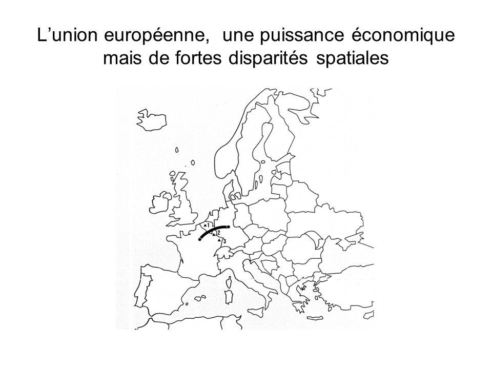Lunion européenne, une puissance économique mais de fortes disparités spatiales