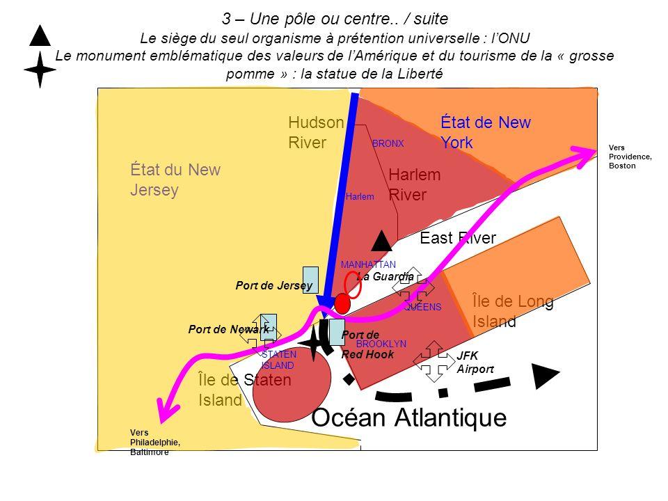 3 – Une pôle ou centre.. / suite Le siège du seul organisme à prétention universelle : lONU Le monument emblématique des valeurs de lAmérique et du to