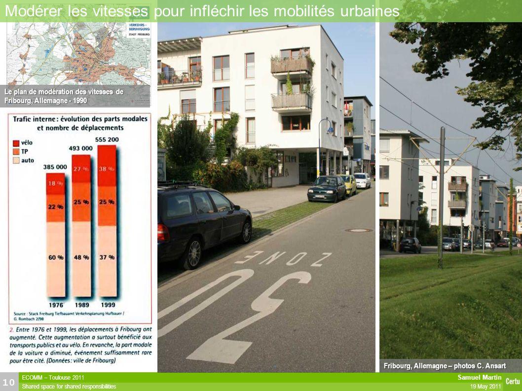 Samuel Martin 19 May 2011 ECOMM – Toulouse 2011 Shared space for shared responsibilities 10 27/04/11Présentation Les vertus de la fluidité « lente » e