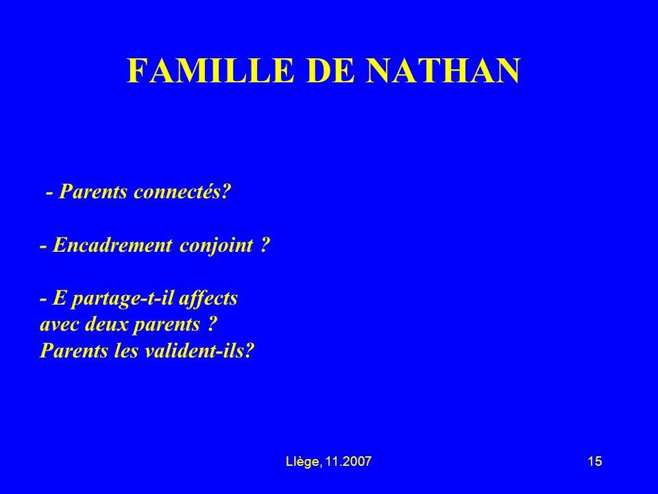 LIège, 11.200715 FAMILLE DE NATHAN - Parents connectés.
