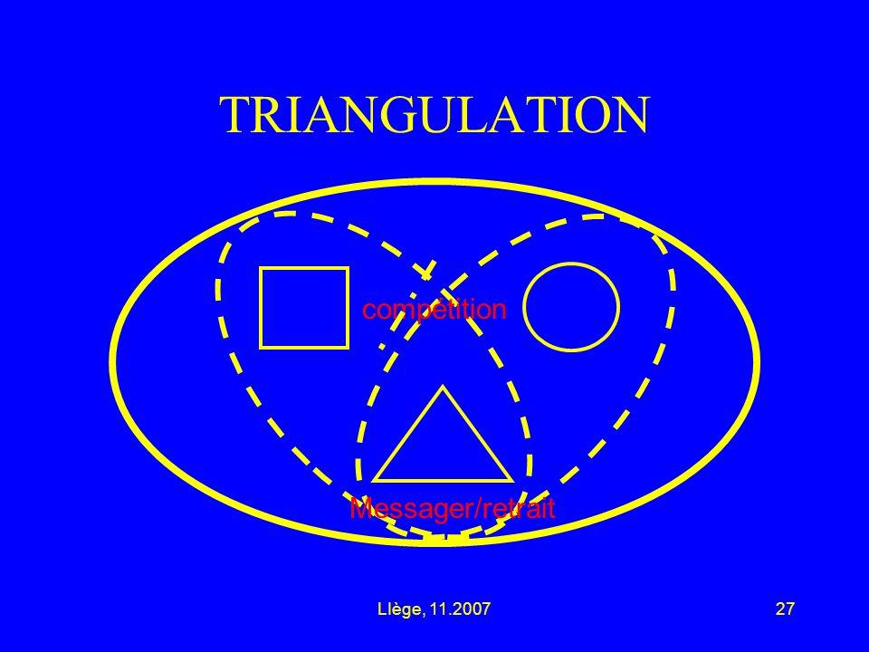 LIège, 11.200727 TRIANGULATION compétition Messager/retrait