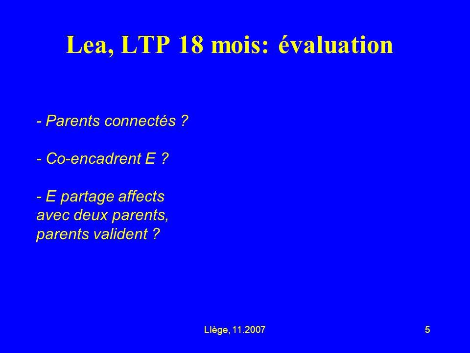 LIège, 11.20075 Lea, LTP 18 mois: évaluation - Parents connectés .