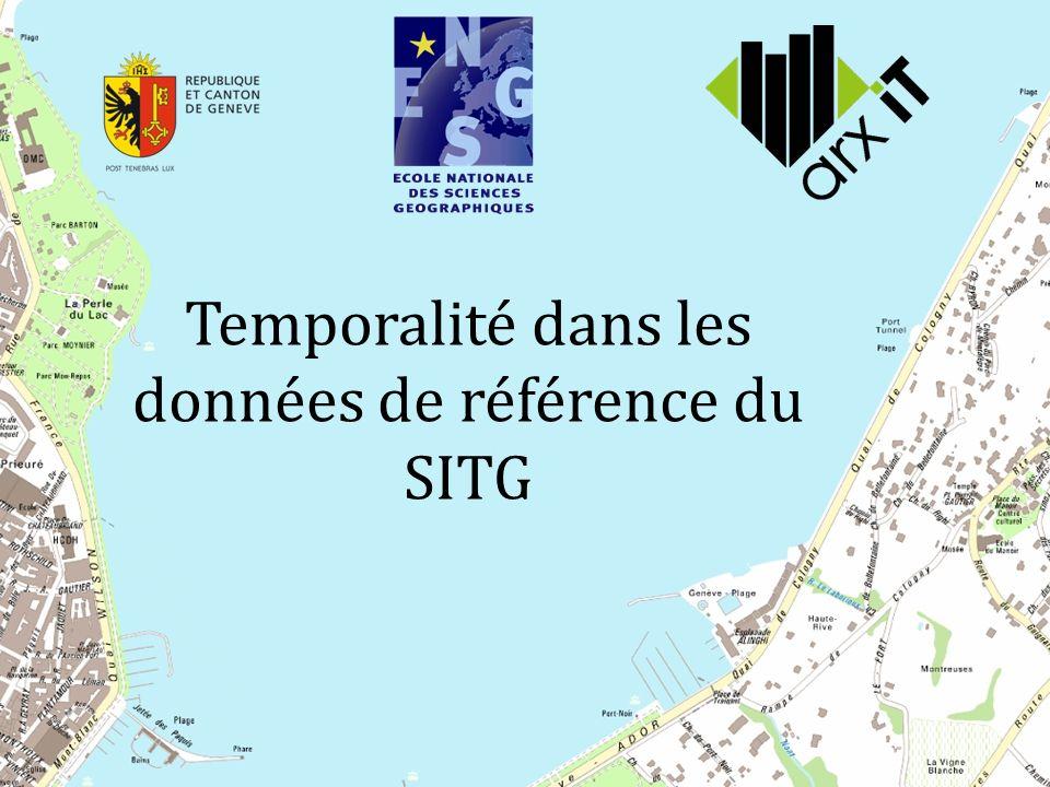 Temporalité dans les données de référence du SITG