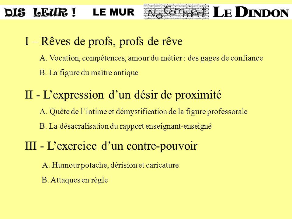 I – Rêves de profs, profs de rêve A.