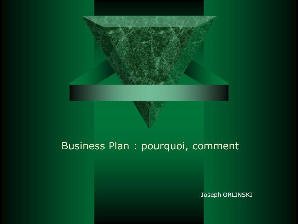 Business Plan : pourquoi, comment Joseph ORLINSKI