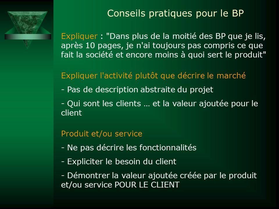 Conseils pratiques pour le BP Expliquer :