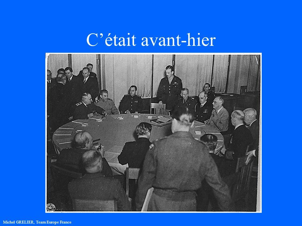 Cétait avant-hier 1945, la 2ème Guerre mondiale se termine A Yalta, F.D.