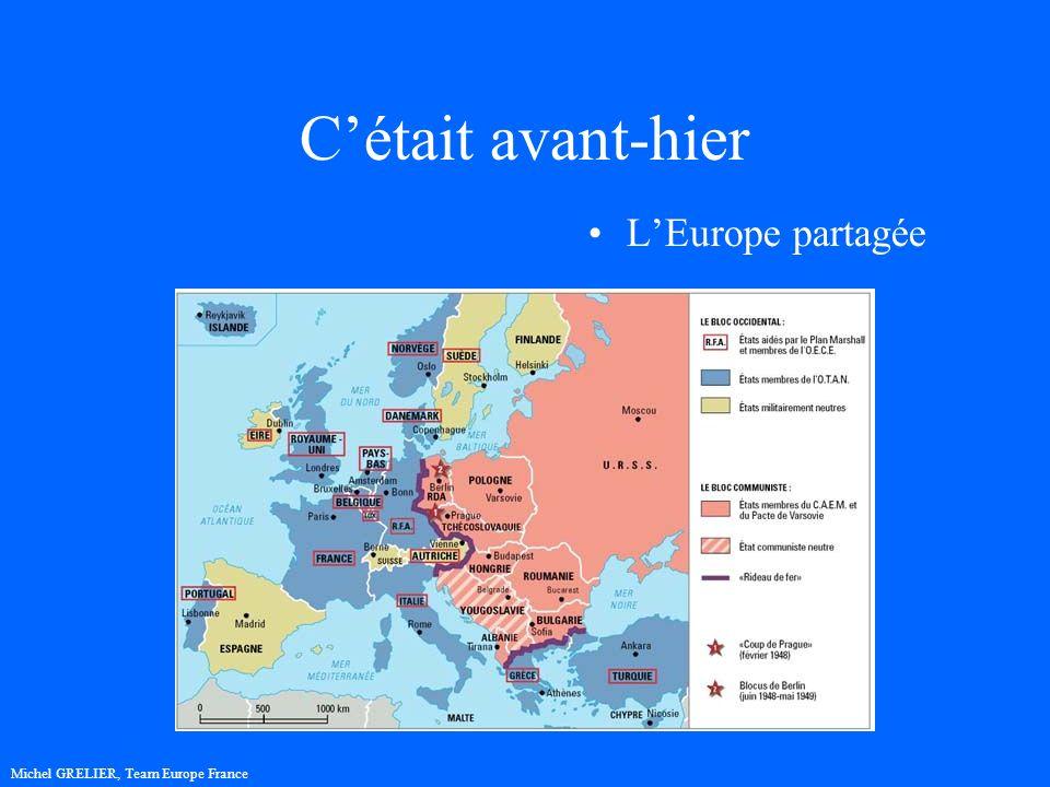 Cétait avant-hier LEurope partagée Michel GRELIER, Team Europe France
