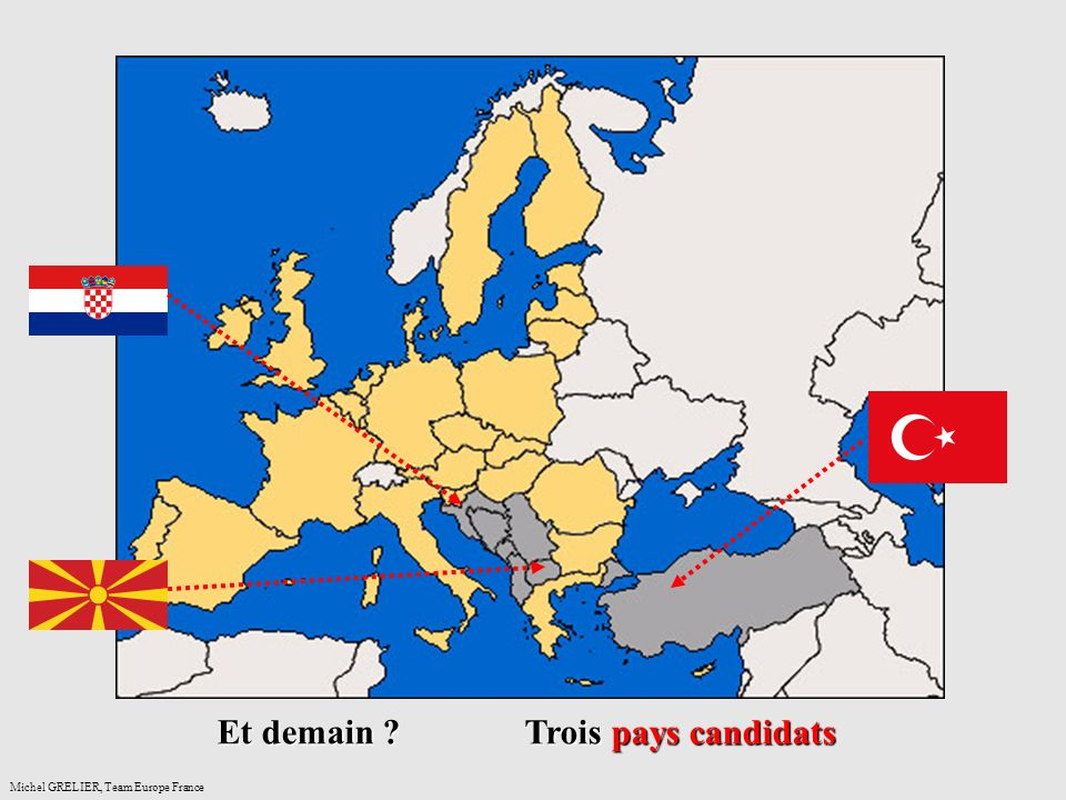 anceMichel GRELIER, Team Europe France Et demain Trois pays candidats
