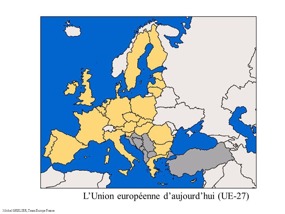 anceMichel GRELIER, Team Europe France Lévolution de la population (en millions) avec les élargissements
