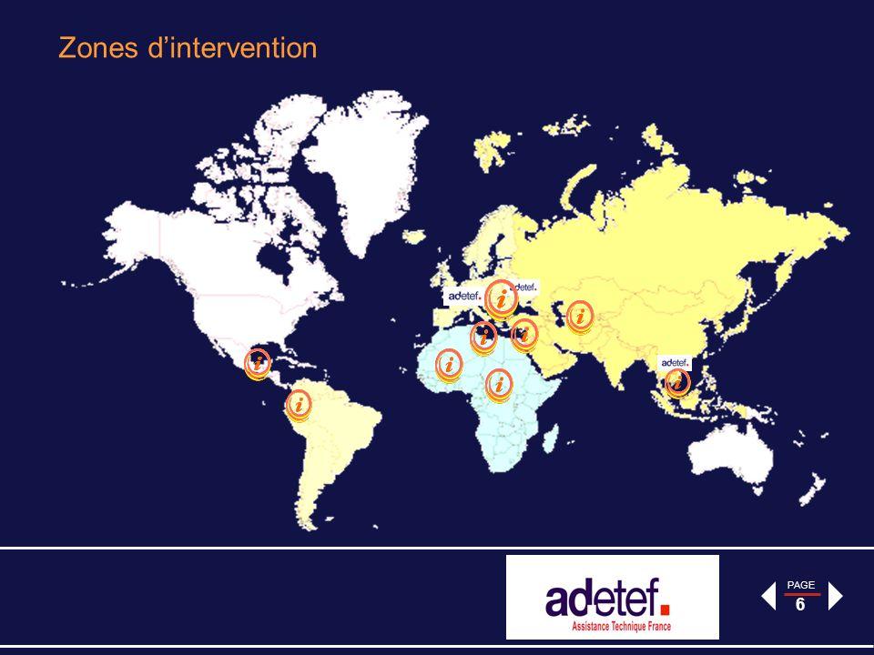 PAGE 17 Le jumelage Maroc: Appui à la restructuration de la Normalisation, Accréditation, la Métrologie et la Surveillance du marché au profit de la DQSM Objectif Général: Améliorer la compétitivité de lindustrie marocaine en supprimant les obstacles générés par la duplication des procédures dévaluation de la conformité à lentrée des marchés internationaux, en développant et en améliorant la compétence de tous les intervenants ainsi que limplication des parties intéressées Contrat : 800 000 - programme démarré en janvier 2013 pour une durée de 18 mois.
